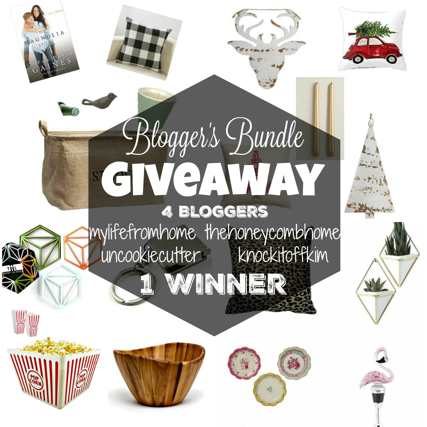 Blogger's Bundle Giveaway! 4 Bloggers are giving away their prize packs to 1 lucky winner! Visit UncookieCutter.com for all the details and to enter!
