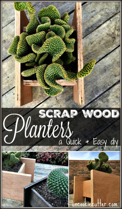 Wooden Planters - A quick and easy DIY - UncookieCutter.com