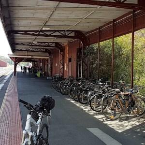 Castlemaine to Maldon Trai - bikes at Castlemaine Railway Station