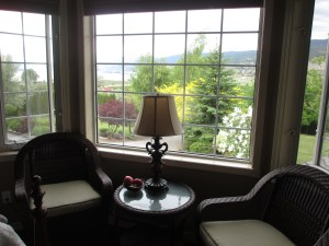 The view from the Deluxe Lakeview Guest Room 2