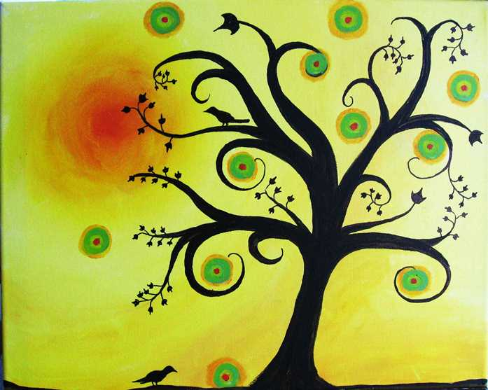 Funky Springtime Tree