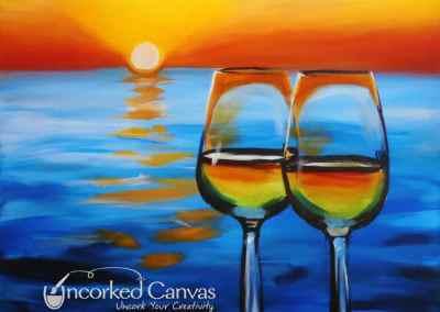 Wine & Sunset