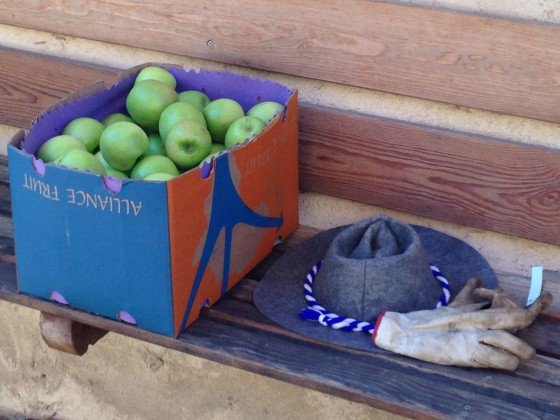 apples and hat