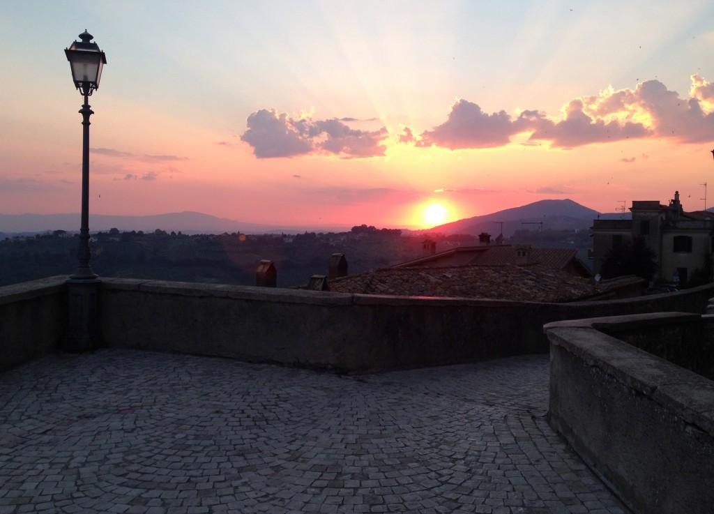 sunset Casperia