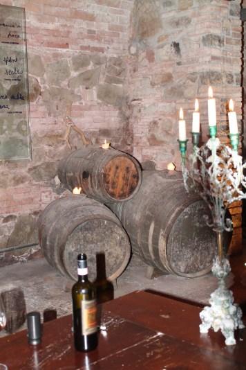 Wine tasting in the 900 year old cellars at Dievole in Vaglagli, Chianti