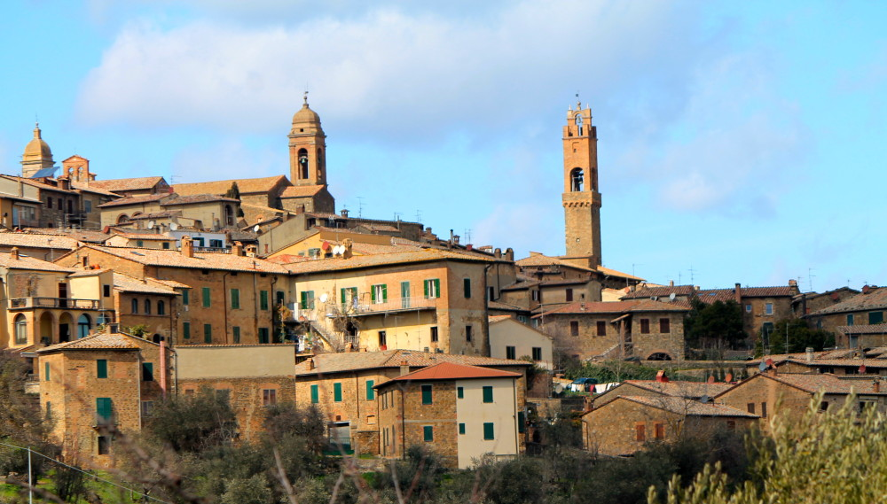 Montalcino is perched atop a hill that dates back to the Etruscan times.