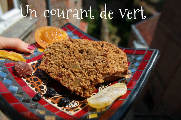 cake vegan aux fruits confis