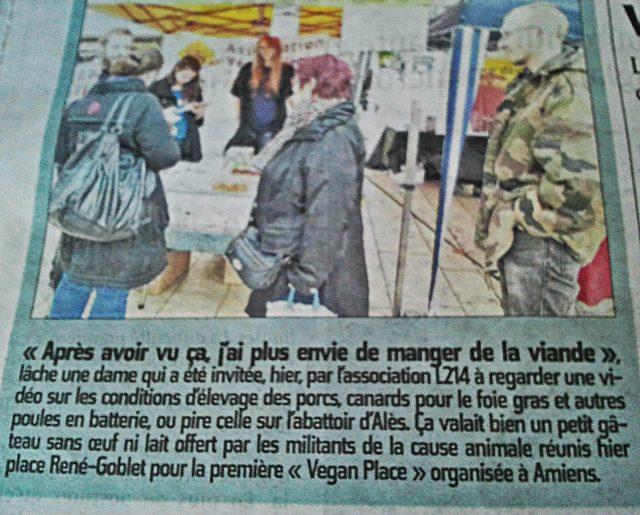Article du Courrier Picard publié le dimanche 26 octobre