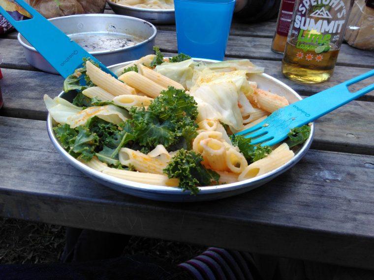 repas vegane camping