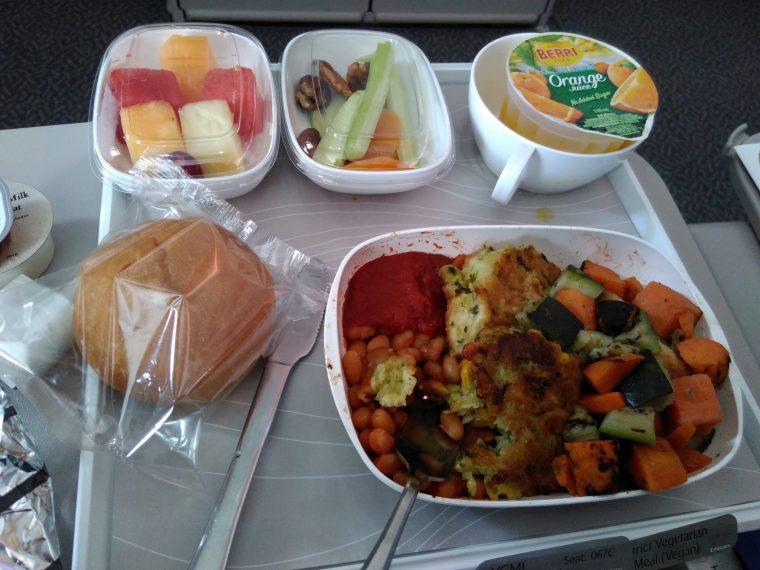 repas-vegane-avion