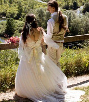 Les mariés de dos