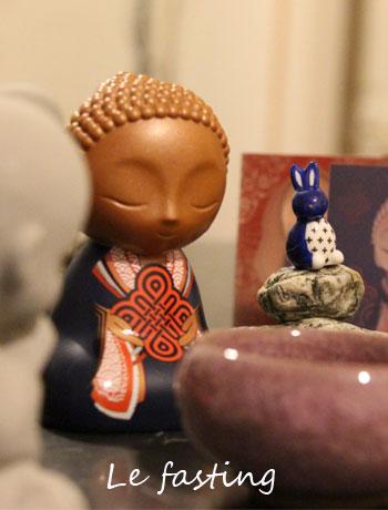 Une fasting avec buddha
