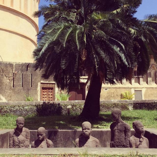 The memorial of the slave market in Stone Town Zanzibarhellip