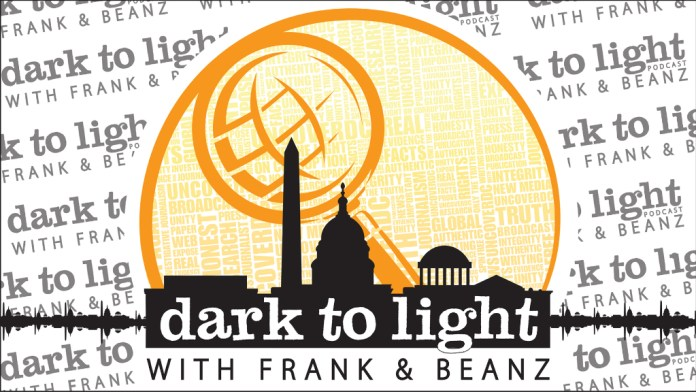 Dark to Light Podcast Graphic