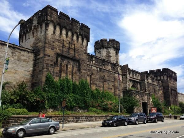 The impressive castle-esque exterior of Eastern State Penitentiary.