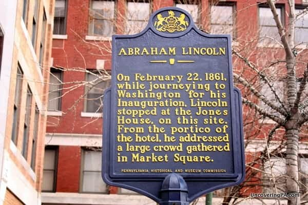 The Abraham Lincoln Historical Marker in Harrisburg, Pennsylvania - Disappearing History