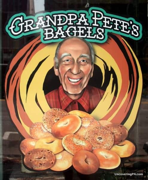 If you're looking for a great snack, Grandpa Pete's Bagels in downtown Stroudsburg are worth the stop.