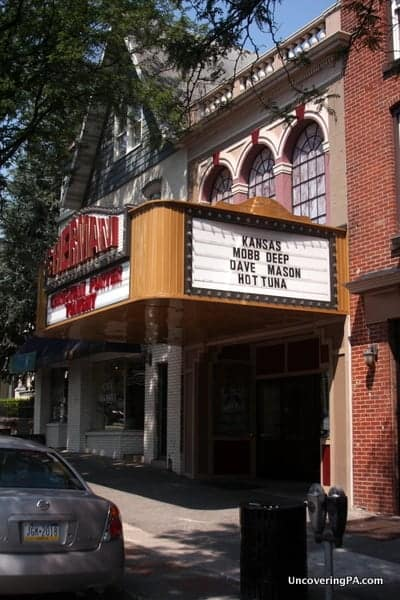 The cute Sherman Theater hosts many local and national performing groups in downtown Stroudsburg.