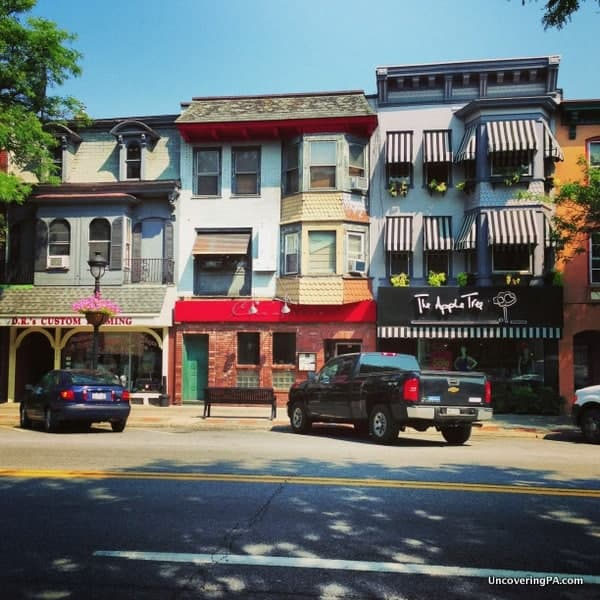Shops in downtown Stroudsburg, Pennsylvania.