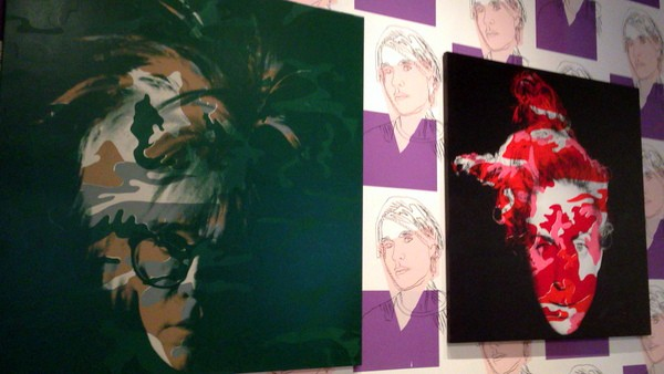 Paintings at the Andy Warhol Museum in Pittsburgh, Pennsylvania
