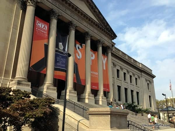 The entrance when visiting the Franklin Institute in Philadelphia, Pennsylvania.