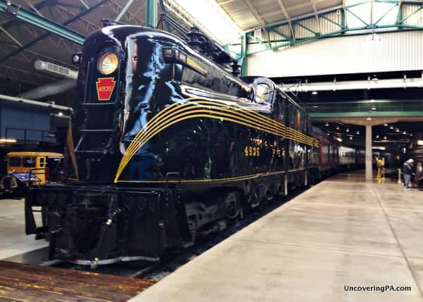 The Railroad Museum of Pennsylvania's undeniably beautiful GG1 train engine.