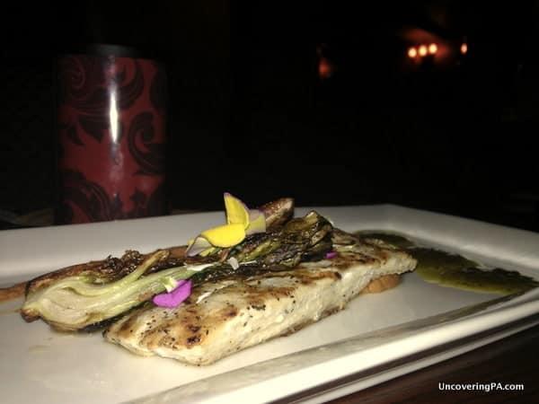 A delicious mahi-mahi seafood du jour at The Garlic Poet in New Cumberland, Pennsylvania.