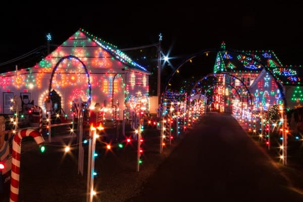Christmas lights at Koziar's Christmas Village near Reading, Pennsylvania