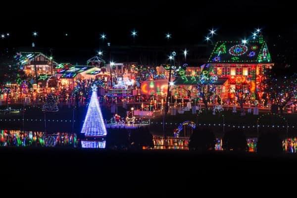 view of koziars christmas village near reading pennsylvania
