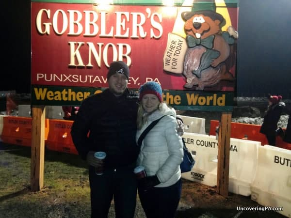 Dressing warmly is important when visiting Gobbler's Knob for Groundhog Day.