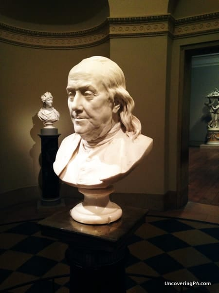 The spectacular bust of Benjamin Franklin at the Philadelphia Museum of Art.