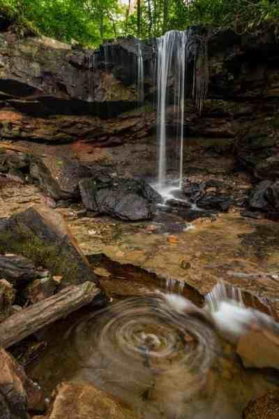 Cole Run Falls in Somerset County, Pennsylvania.