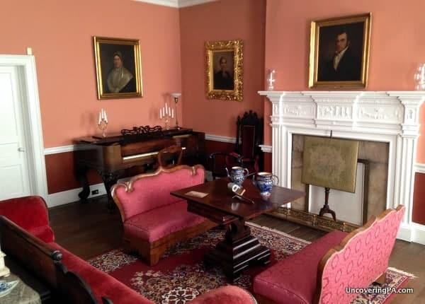 The parlor on the first floor of the LeMoyne House in Washington, Pennsylvania.