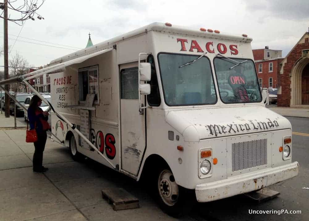 The fabulous Mexico Lindo Taco Truck, the most authentic Mexican food in Harrisburg, Pennsylvania.