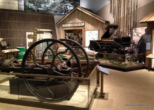 Exhibits inside the fantastic Drake Well Museum near Titusville, Pennsylvania.