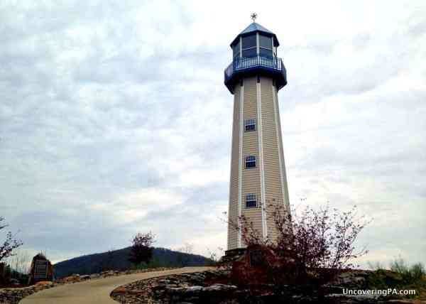 Visiting the Sherman Memorial Lighthouse in Tionesta, Pennsylvania.