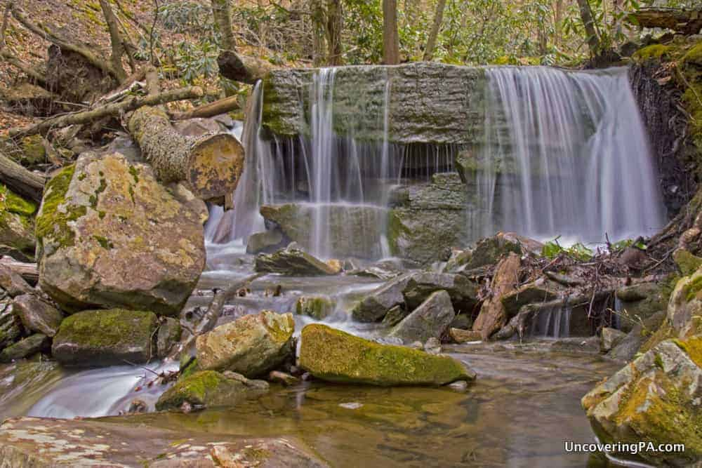 Table Falls in the Quehanna Wild Area of Elk County, Pennsylvania.