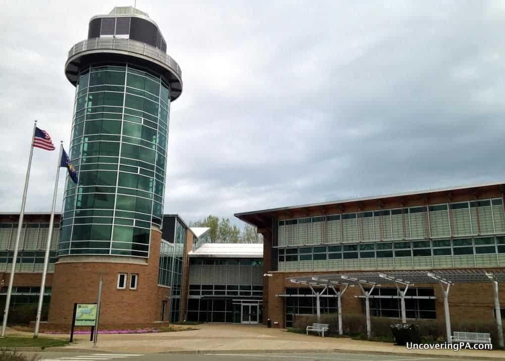 Visiting the Tom Ridge Environmental Center near Presque Isle in Erie, Pennsylvania.