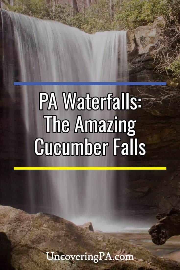 Pennsylvania Waterfalls: Cucumber Falls in Ohiopyle State Park