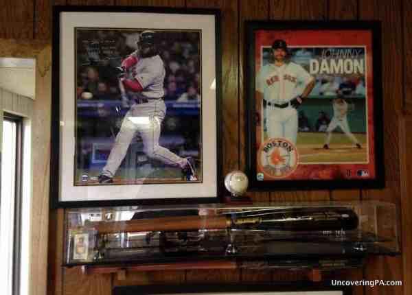 The baseball bat store at BWP Bats in Brookville, Pennsylvania.