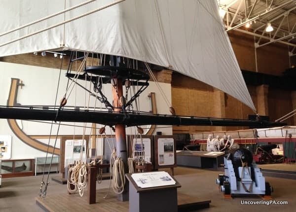 The interactive USS Lawrence in the Erie Maritime Museum.