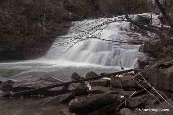 Visiting Little Paint Falls in Somerset County, Pennsylvania.