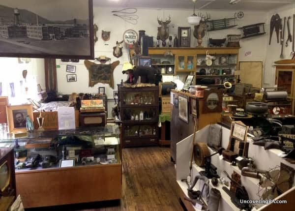 Some of the items on display at The Little Museum in Cameron County, Pennsylvania.
