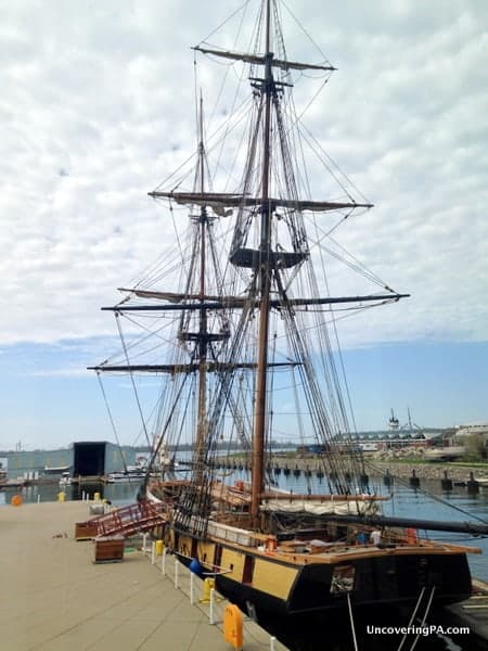 The Flagship Niagara docked outside the Erie Maritime Museum.
