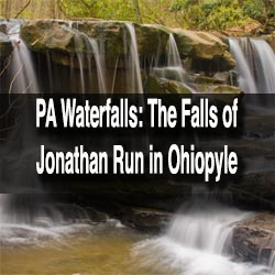 Hiking to the waterfalls on the Jonathan Run Trail in Ohiopyle State Park