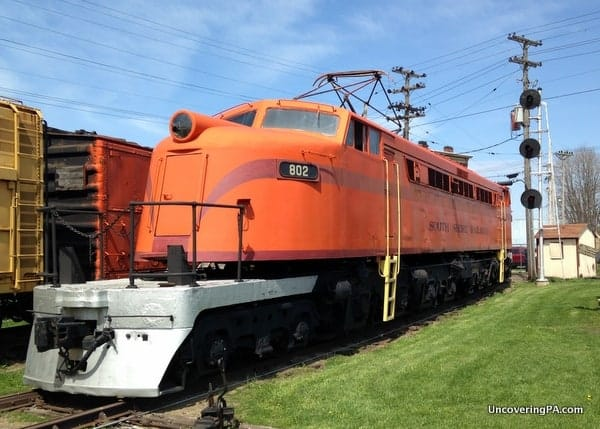 """""""Little Joe"""". One of only 3 of its type still in existence at the Lake Shore Railway Museum."""