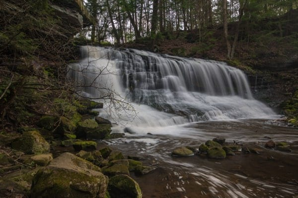 Springfield Falls is an easy to reach waterfall in western Pennsylvania