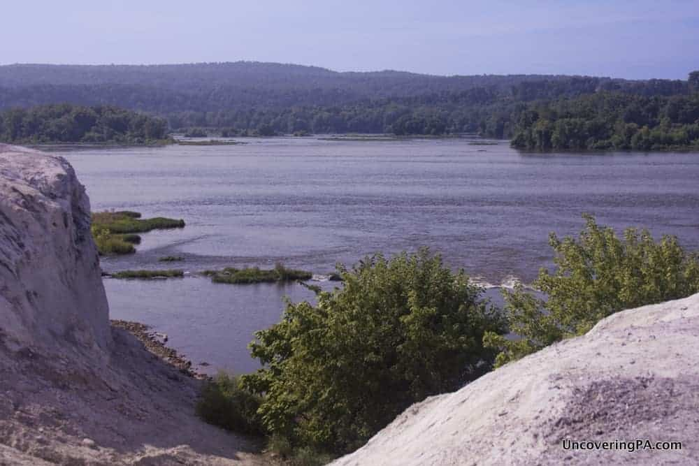 Visiting the White Cliffs of Conoy along the Susquehanna River in Lancaster County, Pennsylvania.