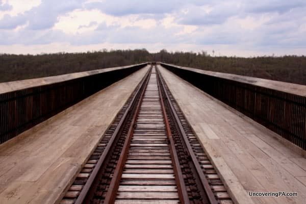 Looking down the Kinzua Bridge.