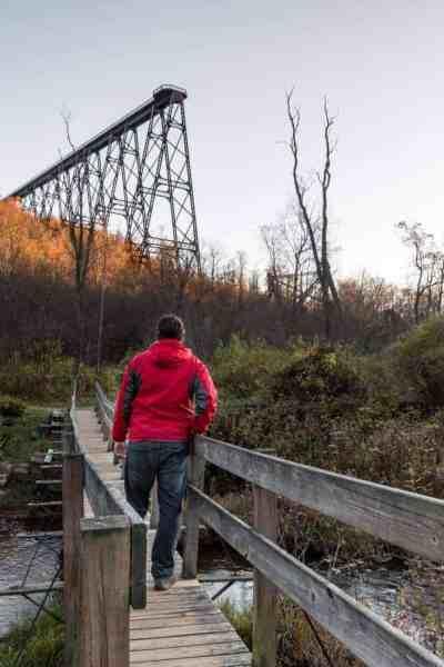 Exploring the ruins of Kinzua Bridge in McKean County, Pennsylvania